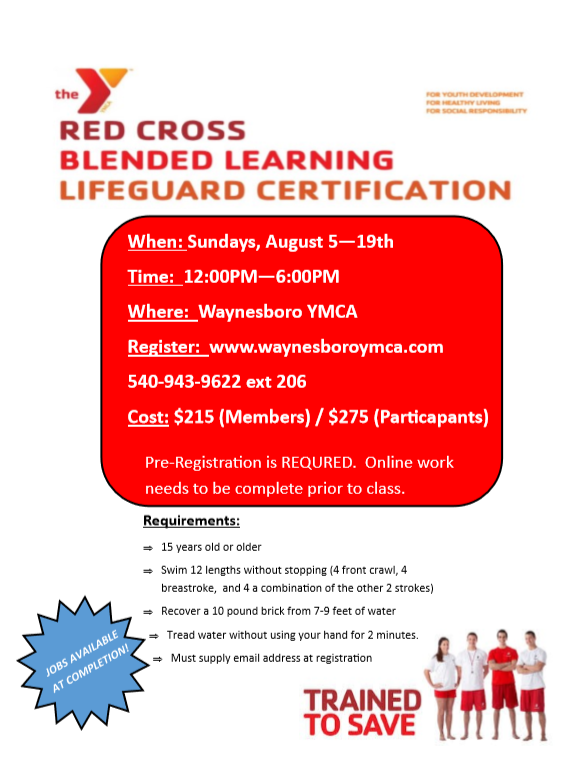 Lifeguard Certification Class At The Y Waynesboro Family Ymca