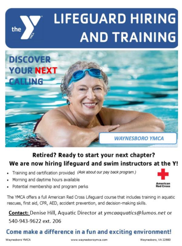 d3e489587d9 Lifeguard Hiring and Training - Waynesboro Family YMCA   Waynesboro ...