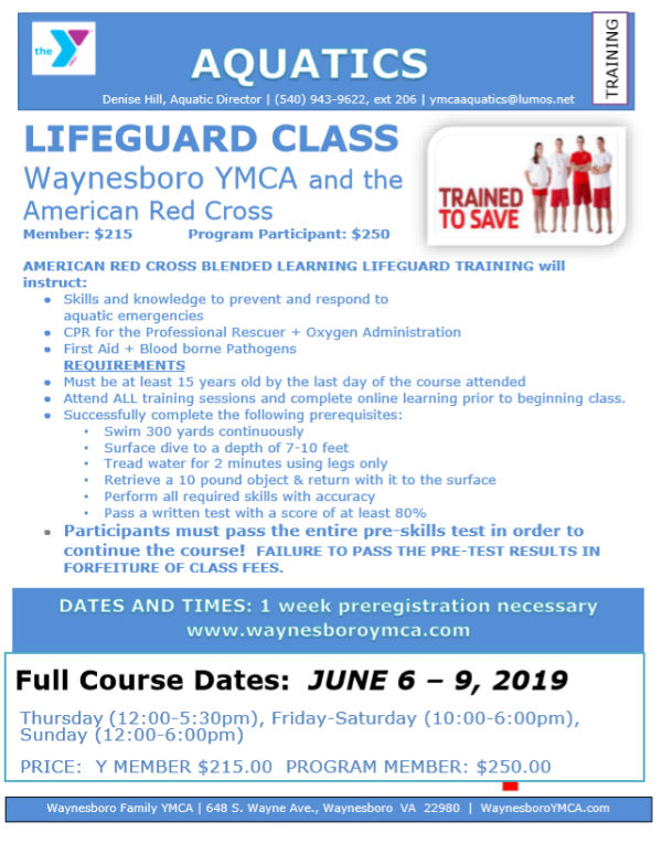 lifeguard cross learning certification blended flyer training ymca