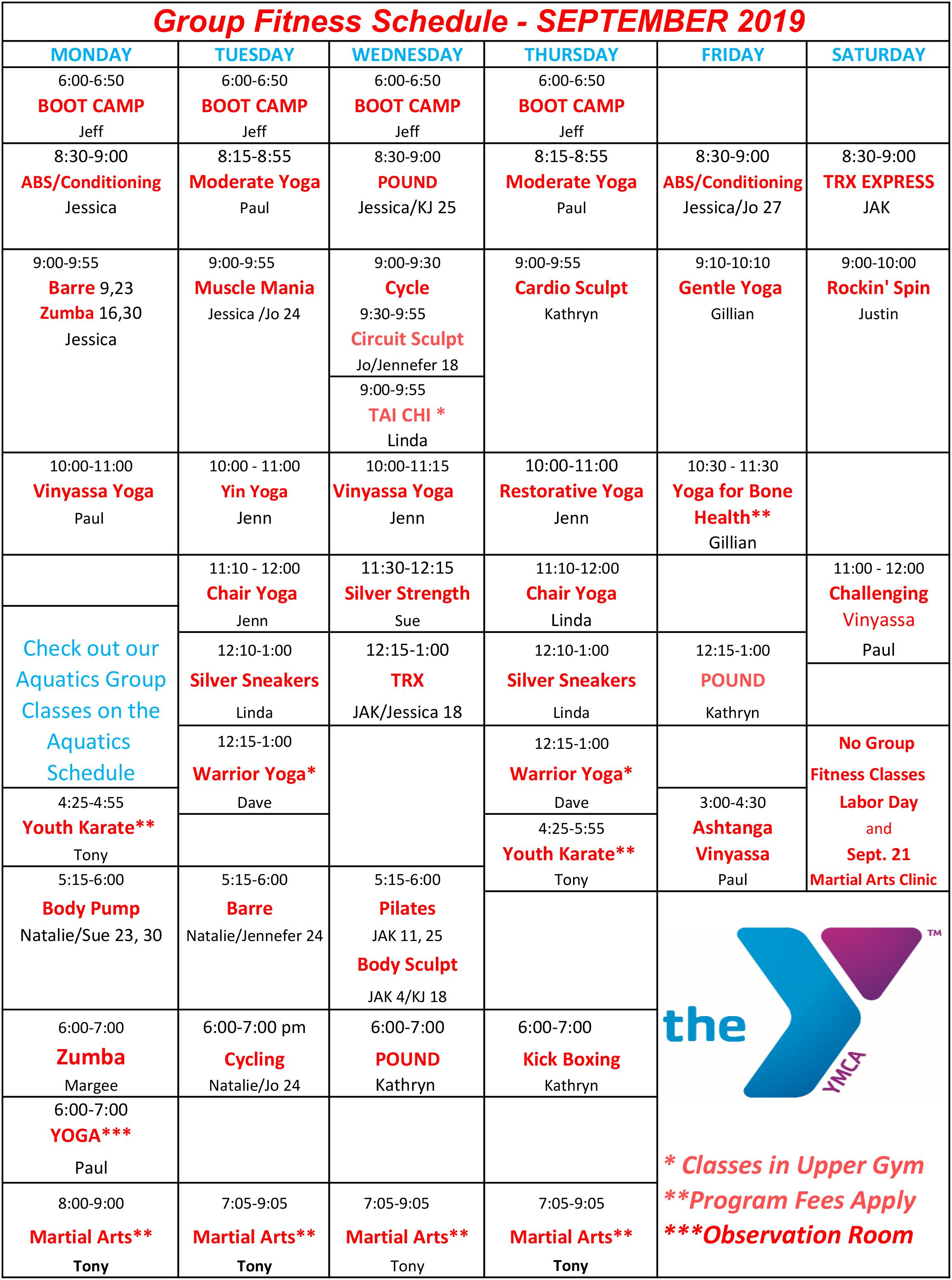 Group Fitness Classes - Waynesboro Family YMCA